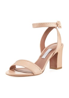 Tabitha Simmons Leticia Scalloped Leather Sandal