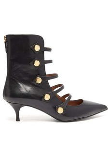 Tabitha Simmons Levi cut-out leather ankle boots