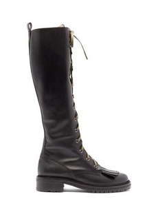 Tabitha Simmons Markie lace-up leather knee-high boots