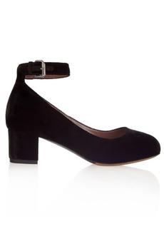 Tabitha Simmons Martha velvet block-heel pumps