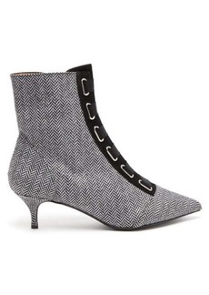 Tabitha Simmons Quin herringbone ankle boots