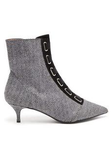 Tabitha Simmons Quin herringbone ankle boots