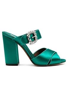 Tabitha Simmons Reyner satin block heel sandals