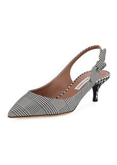 Tabitha Simmons Rise Houndstooth Slingback Pumps