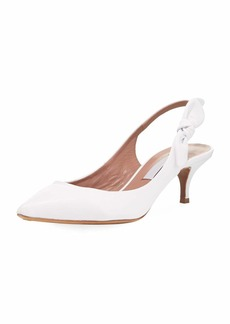 Tabitha Simmons Rise Leather Slingback Pump with Bow