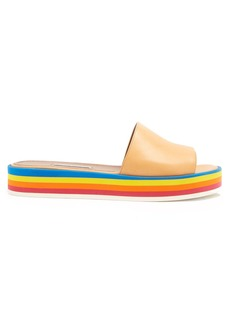 Tabitha Simmons Sophia striped-flatform slides