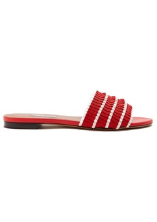 Tabitha Simmons Sprinkles pleat slides