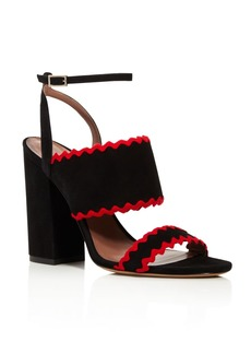 Tabitha Simmons Stevie Ribbon Trim Block Heel Sandals