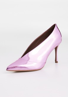 Tabitha Simmons Strike Metallic Pumps