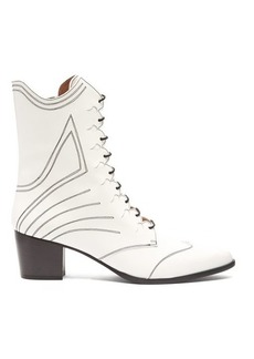 Tabitha Simmons Swing lace-up leather boots