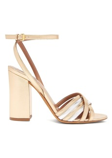 Tabitha Simmons Toni block-heel metallic sandals