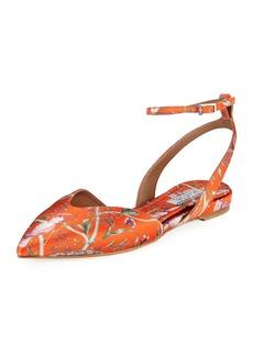Tabitha Simmons Vera Jacquard Ankle Flats