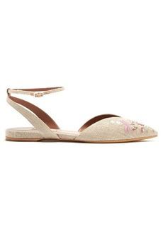 Tabitha Simmons Vera Rose point-toe embroidered flats