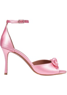 Tabitha Simmons Woman Knotted Satin Sandals Baby Pink