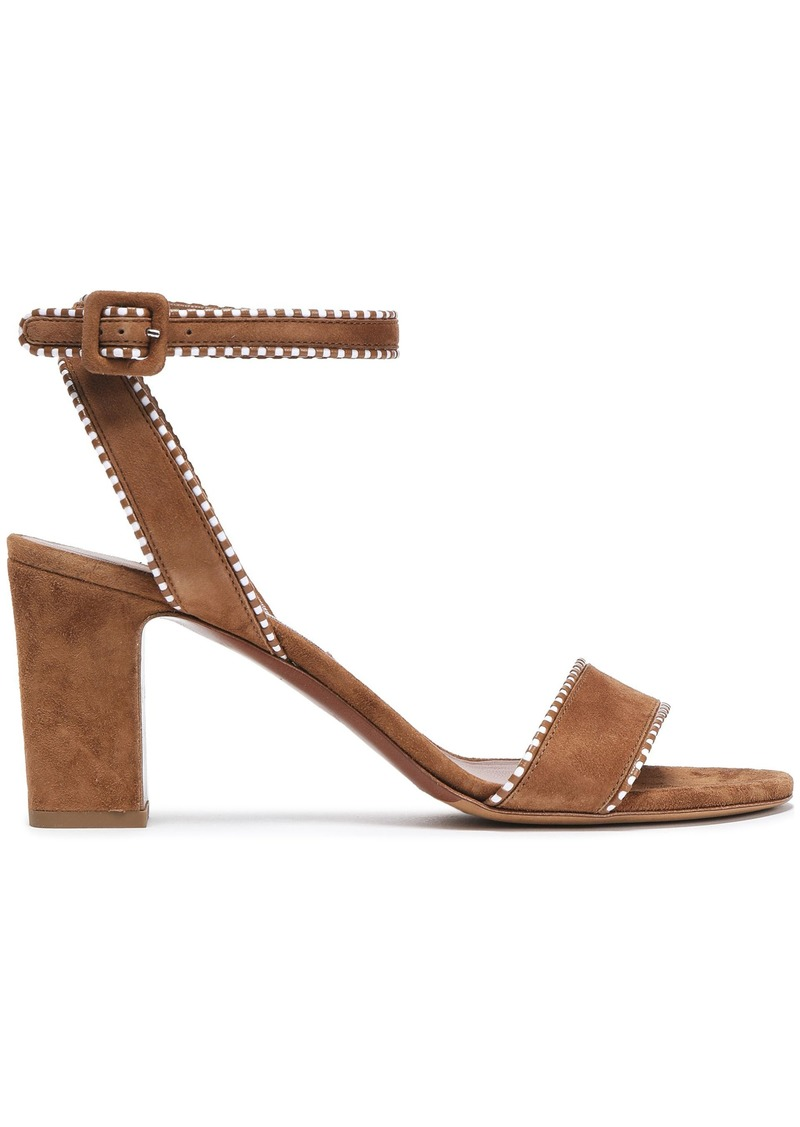 Tabitha Simmons Woman Leather-trimmed Suede Sandals Light Brown