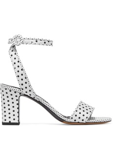 Tabitha Simmons Woman Leticia Polka-dot Twill Sandals White