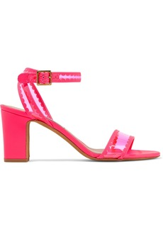 Tabitha Simmons Woman Leticia Scalloped Neon Leather And Pvc Sandals Bright Pink