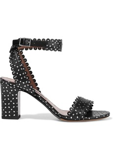 Tabitha Simmons Woman Leticia Studded Laser-cut Leather Sandals Blue