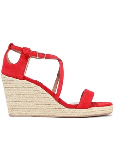 Tabitha Simmons Woman Liu Suede Espadrille Wedge Sandals Red