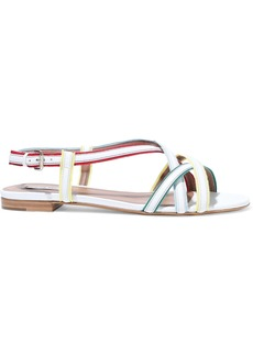 Tabitha Simmons Woman Sarlo Grosgrain-trimmed Leather Sandals White