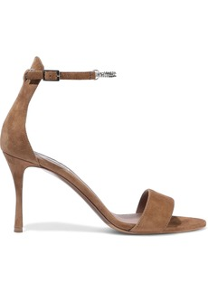 Tabitha Simmons Woman Tilda Chain-embellished Nubuck-paneled Suede Sandals Camel