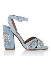 Tabitha Simmons Women's Connie Embellished Denim Sandals