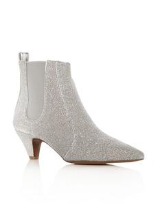 Tabitha Simmons Women's Effie Glitter Pointed Toe Kitten-Heel Booties