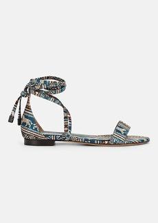 Tabitha Simmons Women's Nellie Batik-Print Satin Sandals