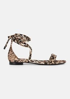 Tabitha Simmons Women's Nellie Leopard-Print Satin Sandals