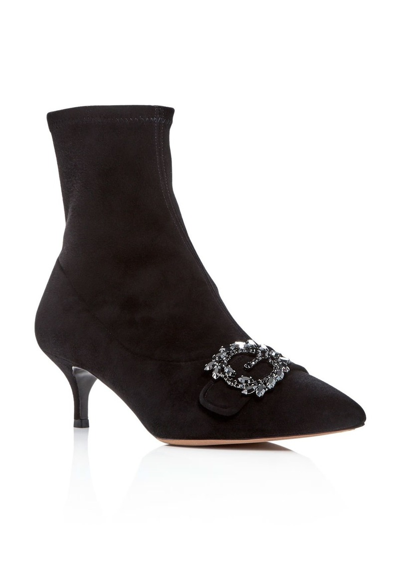 Tabitha Simmons Women's Oscar Suede Kitten-Heel Booties