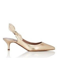 Tabitha Simmons Women's Rise Metallic Leather Slingback Pumps
