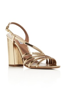 Tabitha Simmons Women's Viola Sequin Strappy High Block-Heel Sandals