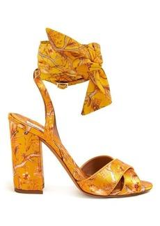 Tabitha Simmons X Johanna Ortiz Connie print silk-strap sandals
