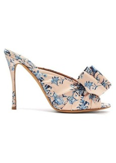 Tabitha Simmons X Johanna Ortiz Lollie floral-print silk mules