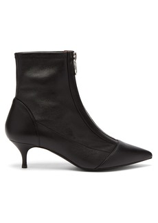 Tabitha Simmons Zippy point-toe leather ankle boots