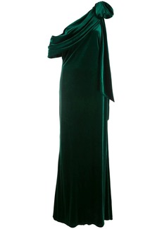 Tadashi Alvar velvet evening gown