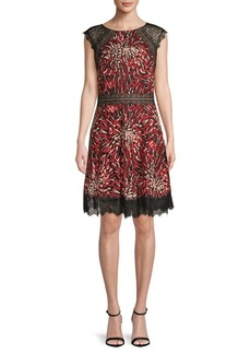 Tadashi Animal Print Fit-&-Flare Dress