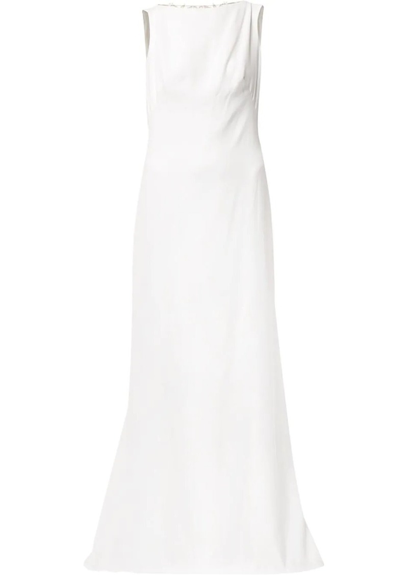 Tadashi back embroidered gown