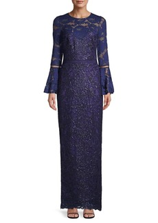 Tadashi Belle Embellished Lace Gown