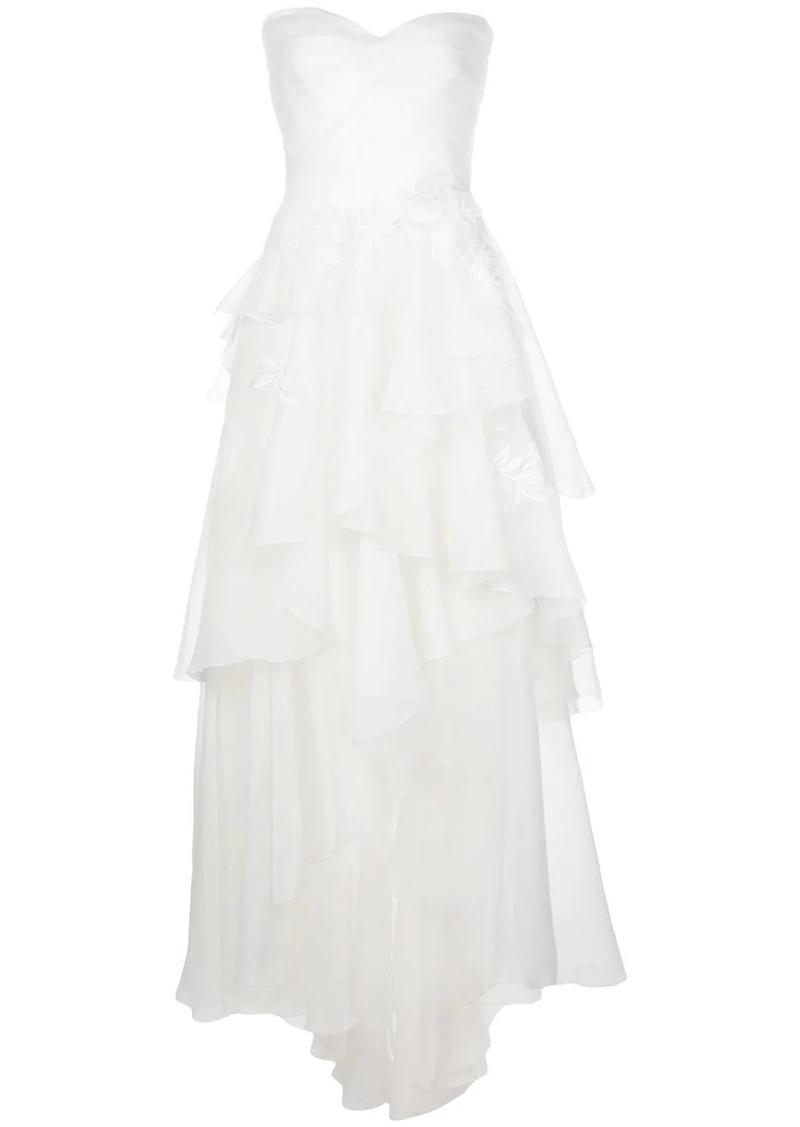 Tadashi Cyd strapless high-low gown