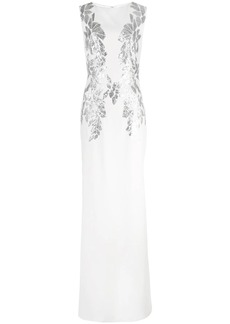 Tadashi sequin embellished gown