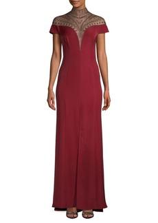 Tadashi Embellished Yoke Gown