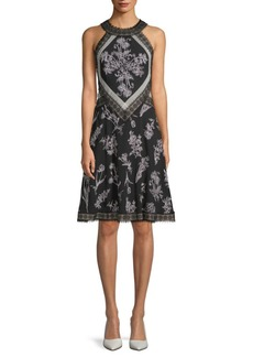 Tadashi Embroidered Lace Dress