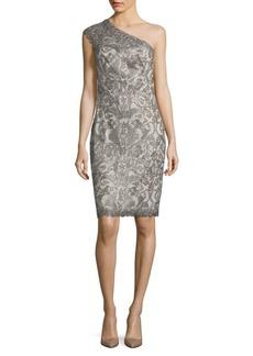 Tadashi Embroidered One-Shoulder Dress