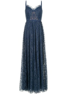 Tadashi flared fine lace gown