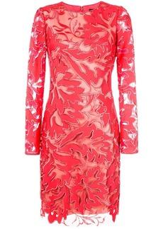 Tadashi floral embroidered dress