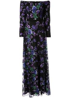 Tadashi floral evening dress
