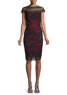 Tadashi Floral Lace Cocktail Dress