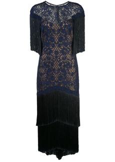 Tadashi fringed evening dress