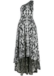Tadashi Kolab one-shoulder jacquard gown
